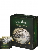 Чай черный Greenfield Earl Grey Fantasy (Гринфилд Эрл Грей Фентези), упаковка 100 пакетиков
