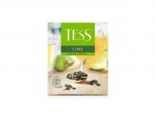 Чай зеленый Tess Lime, упаковка 100 пакетиков