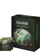 Чай зеленый Greenfield Jasmine Dream (Гринфилд Жасмин Дрим), упаковка 100 пакетиков